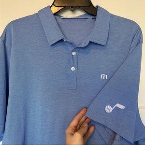 Blue NBA Utah Jazz Travis Mathew Polo Shirt XL